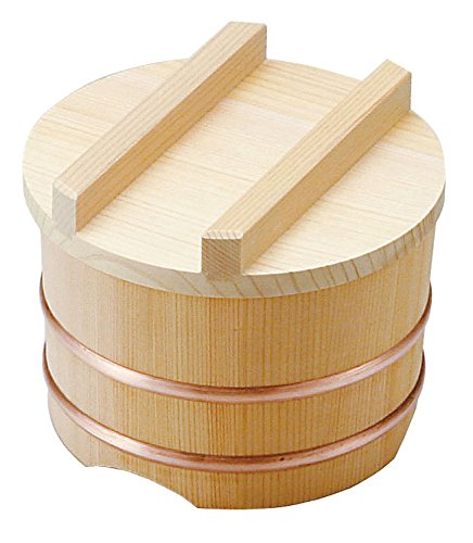 Wooden rice holder φ15×H9cm, Made of Kiso Sawara cypress