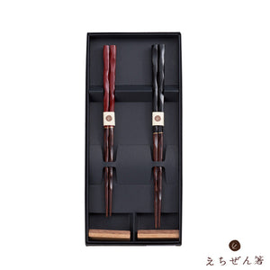 """NICHINICHIKONICHI""(Enjoy Every day Life) Meoto-Bashi Chopsticks Set for Married Couples with Rest"