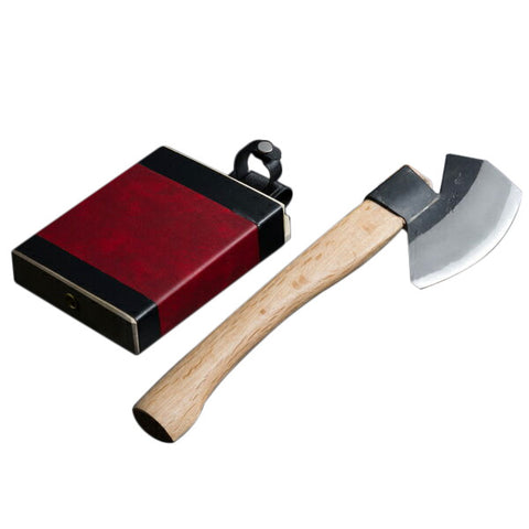 "HONMAMON ""AZUMASYUSAKU"" Branch Lopping Ax, Edge of Blade : ""Aogami Steel""! Blade Length 130mm(abt 5.1"")"