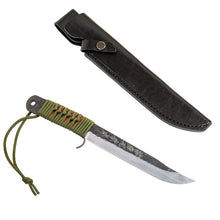 HONMAMON Sword Hatchet for Outdoor Activities with Genuine Leather Case, Blade Edge : Aogami Steel