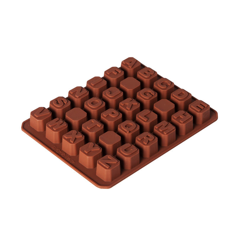 Silicone Chocolate Mould XJ1309 - Alphabet