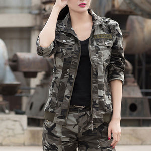 Army Style Women Fashion 100% Cotton Coat