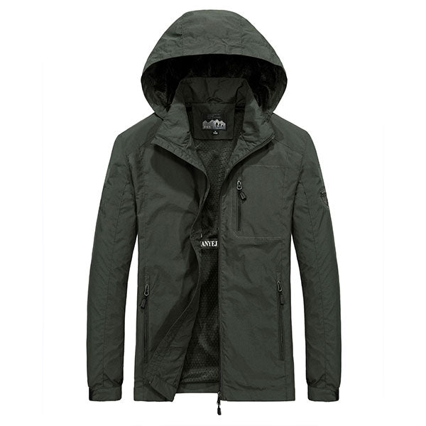 Fashion Simple Design Thin Men's Coat For Outdoors