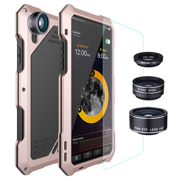 360° Protection Four Layer Phone Case For iPhone X With Eternal Camera