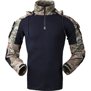 Fashion Cool Hooded String Element Army Style Men's Shirt