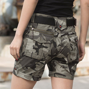 Zipper Element Army Style Women Short Pant