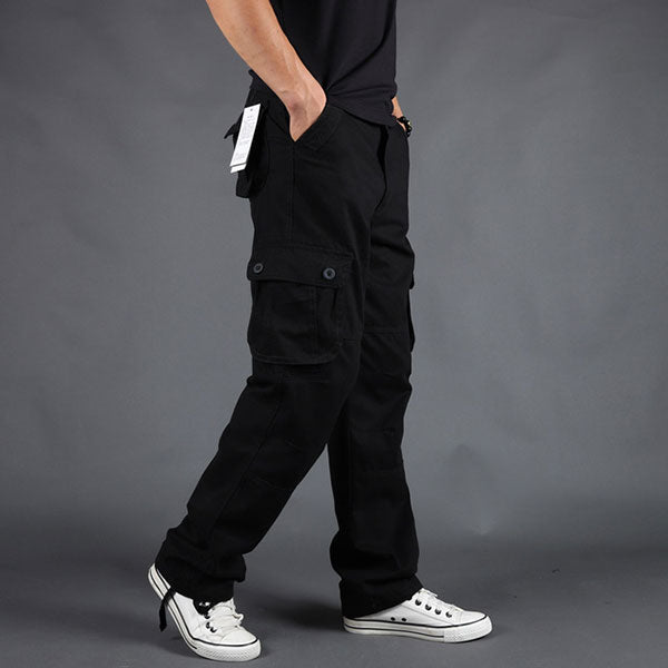 100% Cotton Leisure Wear Six Pockets Men's Cargo Pant
