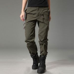 Women Fashion Military Style Pant Large Size Available