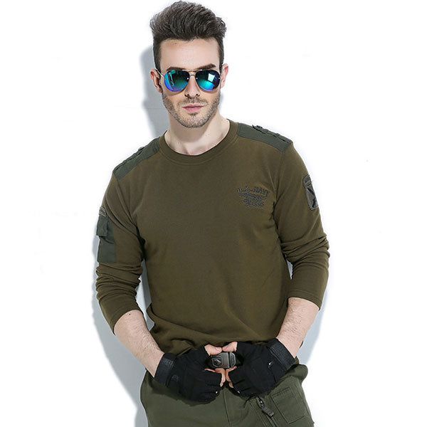 Army Style 100% Cotton Made Shirt For Autumn and Winter Wear