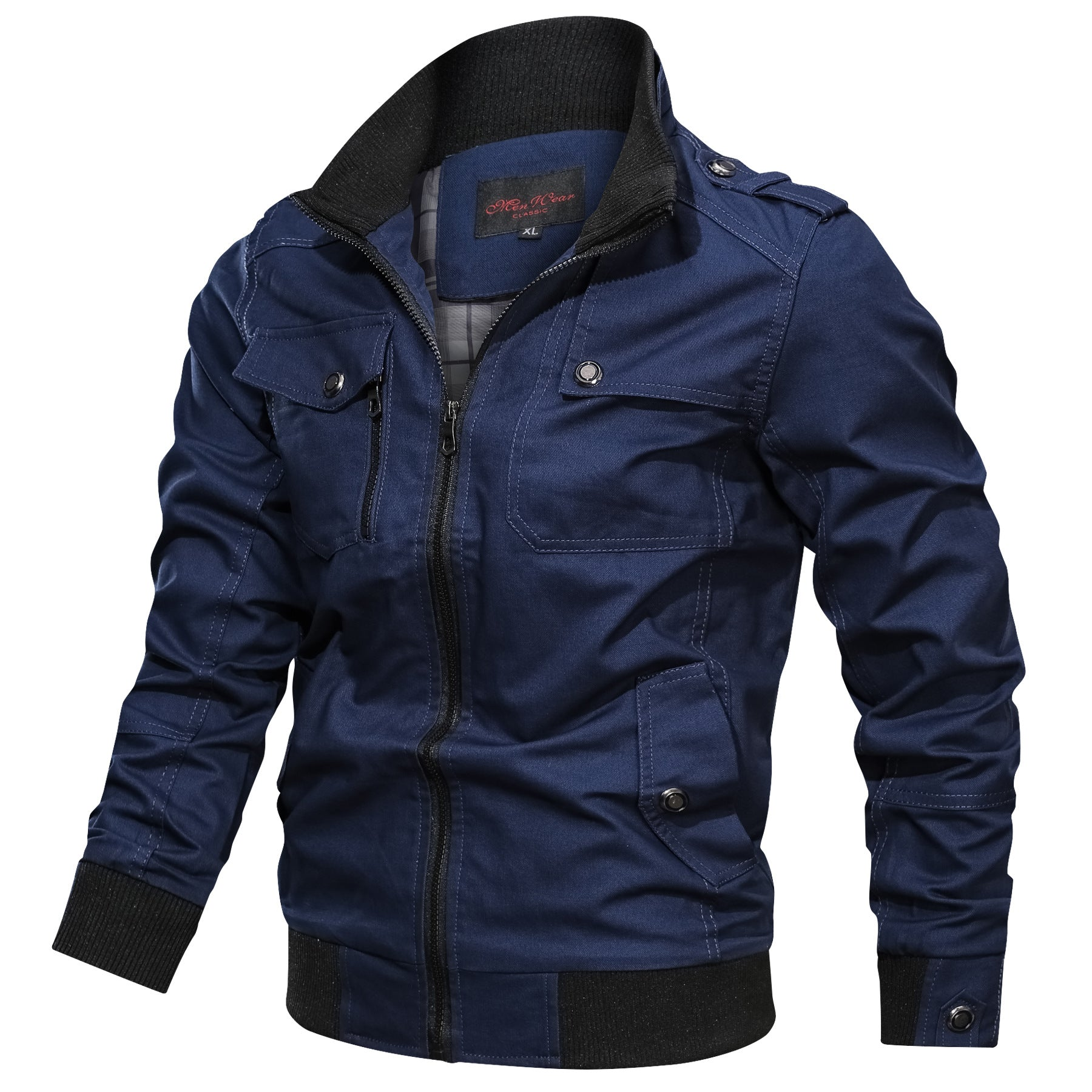 Men's Stand Collar Multi-Color Men's Jacket