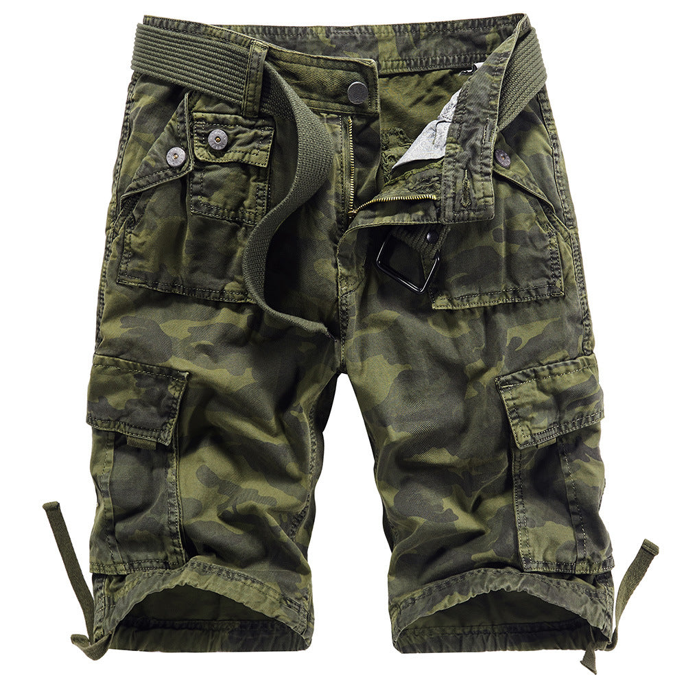 100% Cotton Camouflage Leisure Men's Cargo Short Pant
