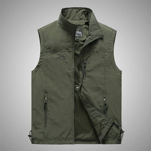 Fashion Simple Design Men's Vest For Outdoors