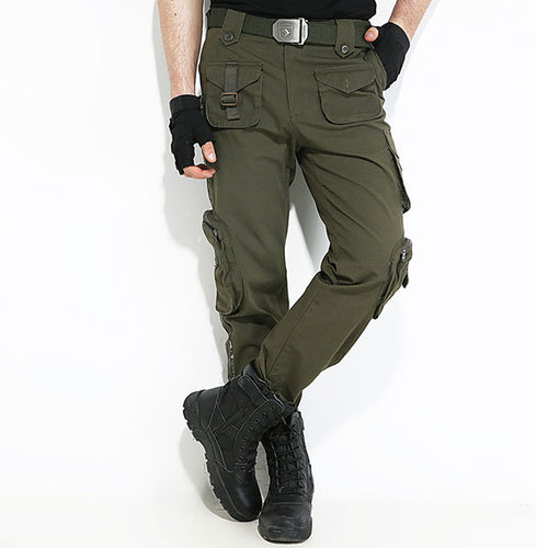 Stripe Element Army Style Multi-Pocket Cargo Pant