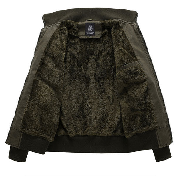 Army Style Daily Wear Men's Jacket With Velvet Inside Winter Wear