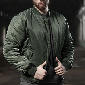 Army Style Daily Wear Men's Bomber Jacket Waterproof