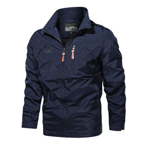 Simple Design Casual Outdoors Men's Jacket Large Size Available