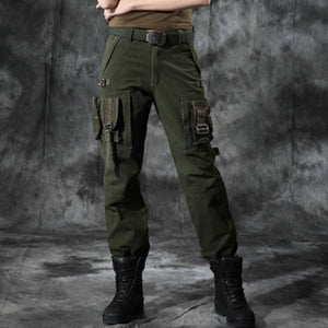 Women Military Style Multi-Pocket Outdoor Wear Pant Large Size Available