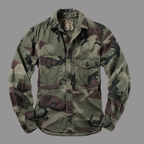 Army Style Men's Comoufalge Shirt