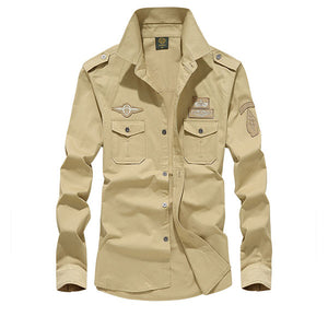 Army Style Causal Wear Men's Shirt
