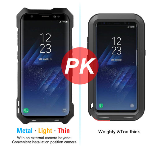 All Around Protection Water Dirt And Shock Proof Phone Case For SAMSUNG Galaxy S8 And S8+ With External Camera