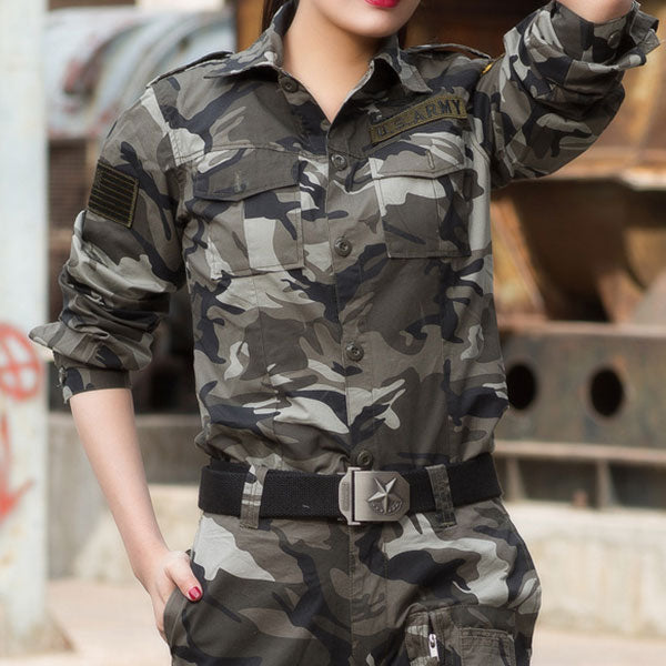 Airborne Army Style Long Sleeve Shirt