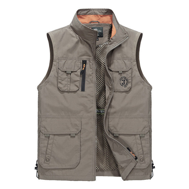 Stand Color Simple Design Men's Functional Vest