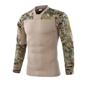 Army Style Men's V-Necklace Long Sleeve Shirt