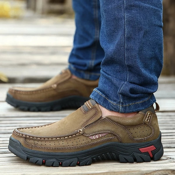 Spring Autumn Stylish Men Leather Hiking Shoes