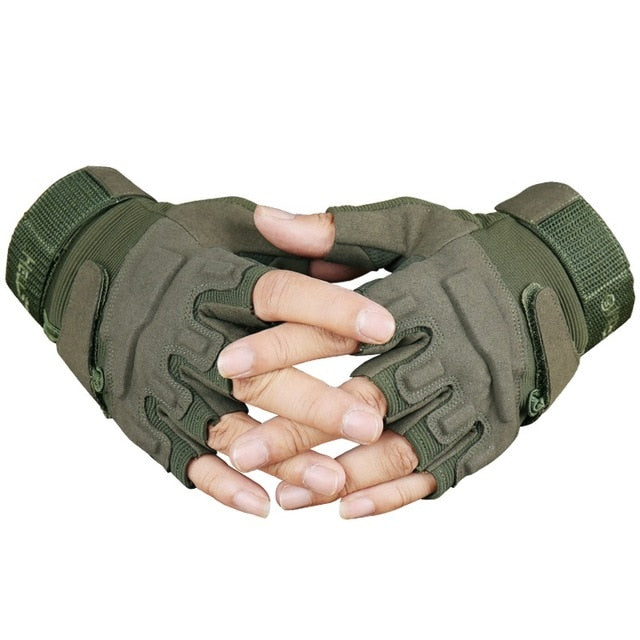 Tactical Fingerless Fighting Combat Glove