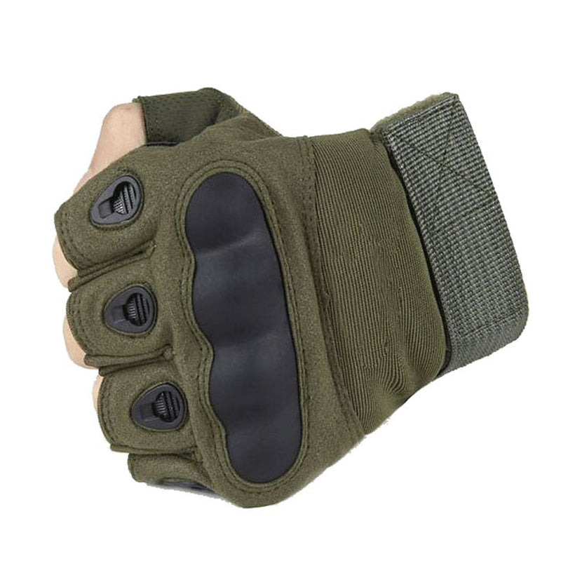 Tactical Fingerless Gloves Military Army Shooting Paintball Airsoft Gloves