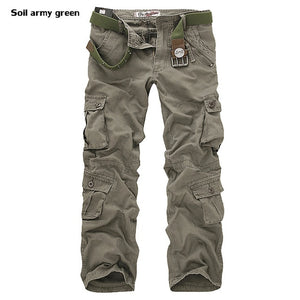 High Quality Men's Cargo Pants Casual Loose Multi Pocket