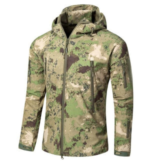 Men's Army Camouflage Jacket and Coat Military Tactical Jacket Winter Waterproof Soft Shell Jackets