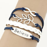 Love and Believe Leather Bracelet
