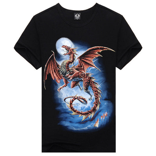 100% Cotton 3D Print Dragon Shirts