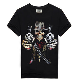 100% Cotton 3D Skeleton Gunner Shirts