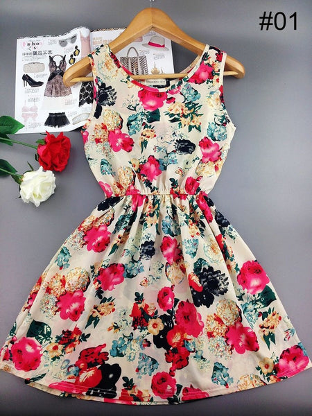2017 New European Style Fashion Flower dress