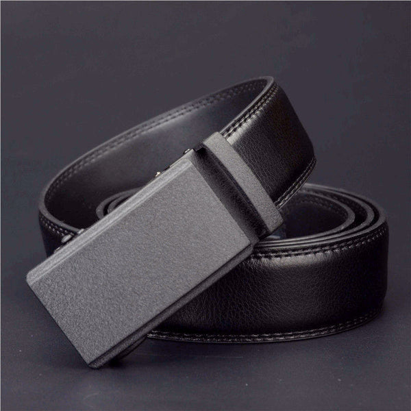 100% Genuine Leather Automatic Buckle Belts for Men
