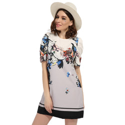 2017 Women Early Spring Summer Floral High Quality Dress