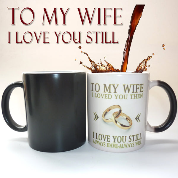 Thermal Color Changing Coffee Mug Surprise Gift For Wife or Husband