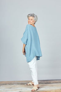 The Iris Top in River Blue