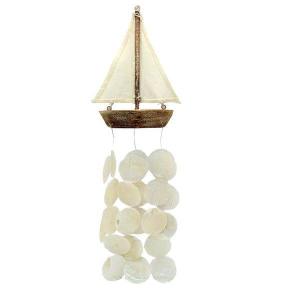 Sailing Boat Capiz Shell Mobile