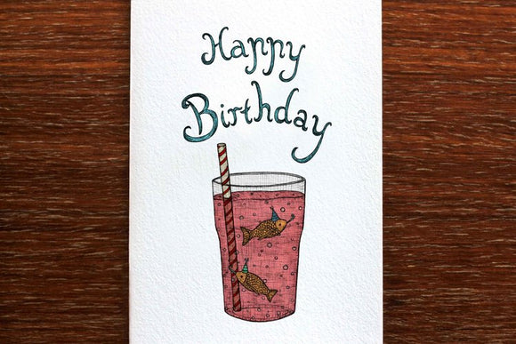 Birthday Fish Card