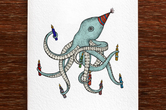 Birthday Octopus Card