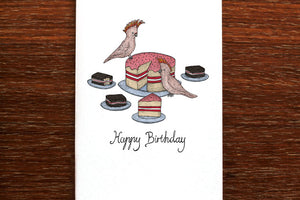 Cockatoo Cake Card