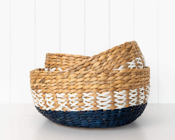 Basket Set - Wisteria - Water Hyacinth