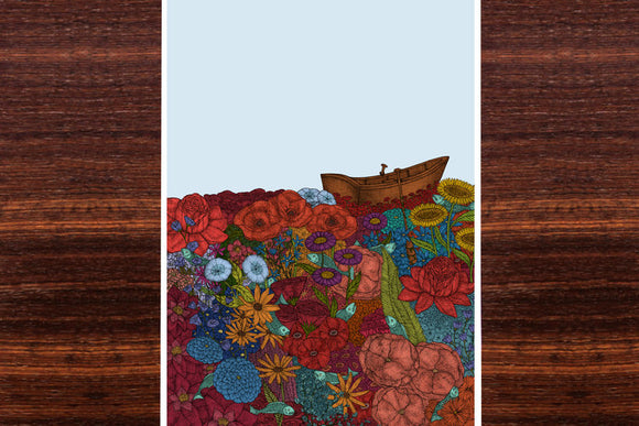 Floating on Flowers Wall Art