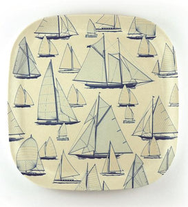 Bamboo Plate 'Sail Away'