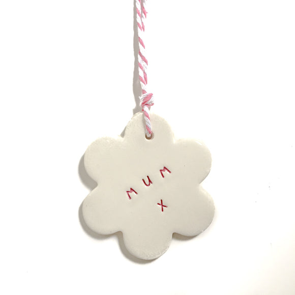 Medium Ceramic Tag 'Mum'