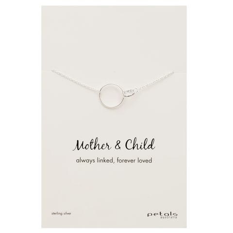 Sterling Silver Necklace - Mother and Child