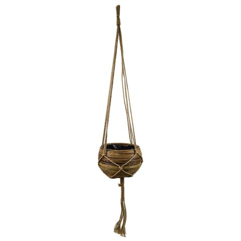 37X20CM RATTAN BOWL HANG BASKET